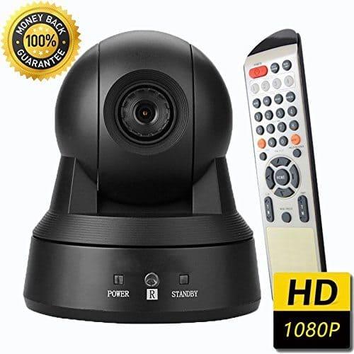 Eshenma-USB 2.0 Full HD 1080P Profiwebcam, perfekt wenn du langfristig als Camgirl arbeiten möchtest. Viele Features + Fernbedienung mit der die Cam bequem aus dem Bett bedienen werden kann.